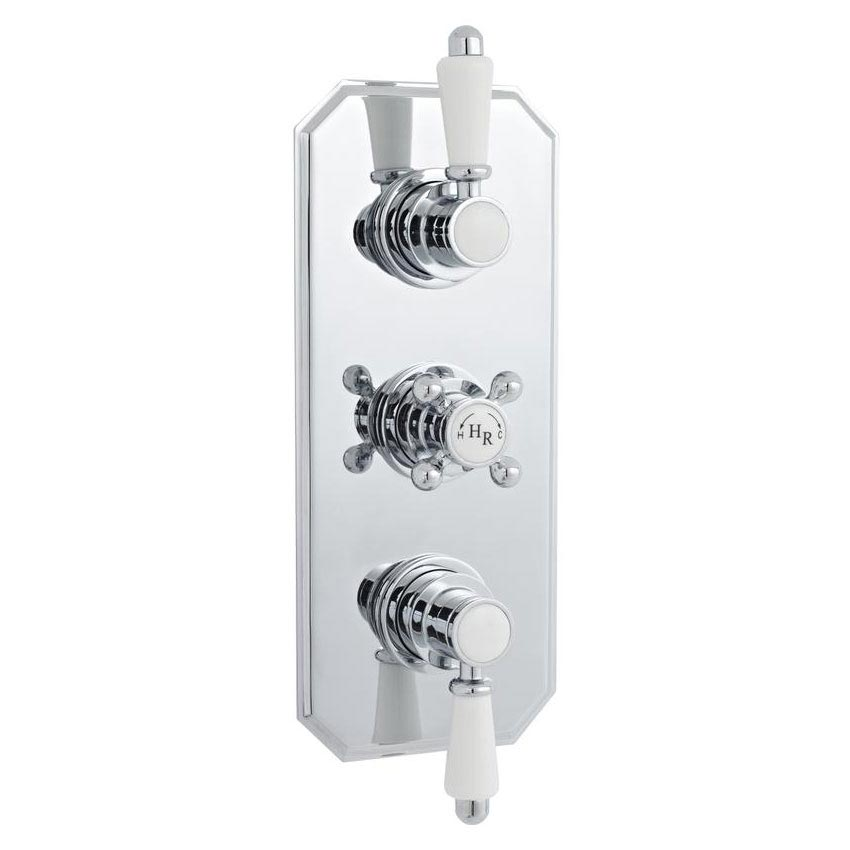 Hudson Reed Traditional Triple Concealed Thermostatic Shower Valve - A3035 Large Image