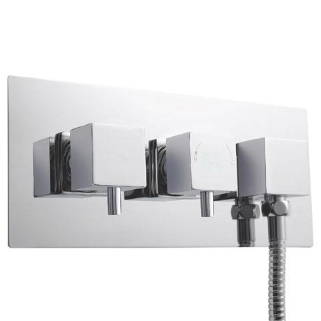 Ultra Volt Twin Concealed Thermostatic Shower Valve with Diverter & Outlet - A3077