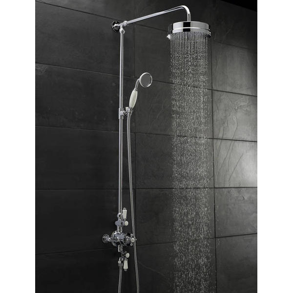 Hudson Reed Triple Exposed Thermostatic Shower Valve w/ Luxury Rigid Riser Kit Feature Large Image