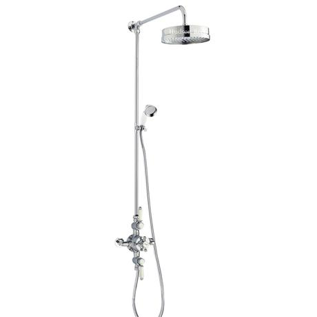 Hudson Reed Triple Exposed Thermostatic Shower Valve w/ Luxury Rigid Riser Kit