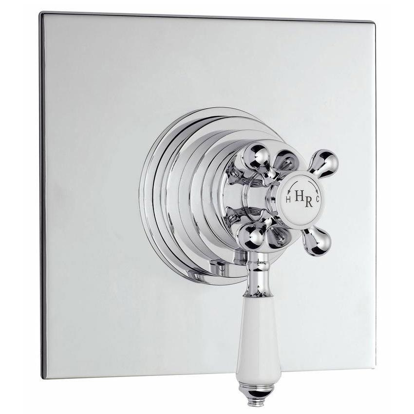 Hudson Reed Traditional Dual Concealed Thermostatic Shower Valve - Chrome - A3091C Large Image