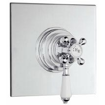 Hudson Reed Traditional Dual Concealed Thermostatic Shower Valve - Chrome - A3091C Medium Image