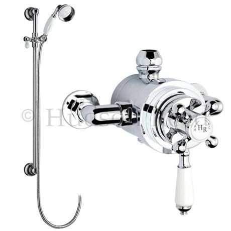 Hudson Reed Traditional Dual Exposed Thermostatic Shower Valve w/ Slider Rail Kit
