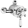 Nuie Traditional Dual Exposed Thermostatic Shower Valve - Chrome - A3091E profile small image view 1