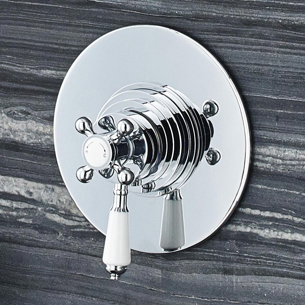 Ultra Victorian Dual Concealed Thermostatic Shower Valve - A3092C profile large image view 2