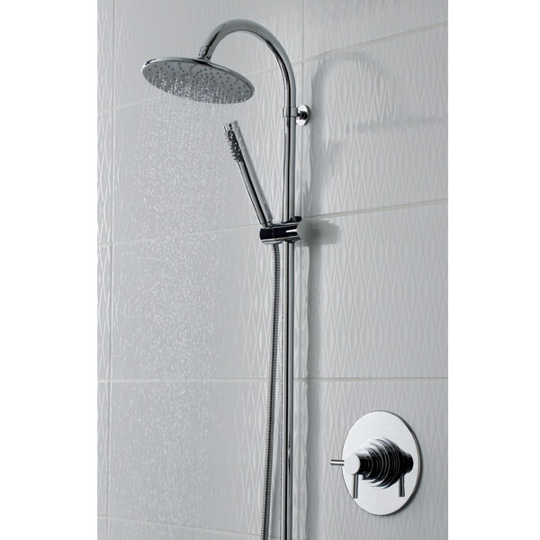 Ultra Spirit Concealed Dual Thermostatic Shower Valve - Chrome - A3095C profile large image view 2