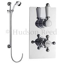 Hudson Reed Traditional Twin Concealed Thermostatic Shower Valve w/ Slide Rail Kit Medium Image
