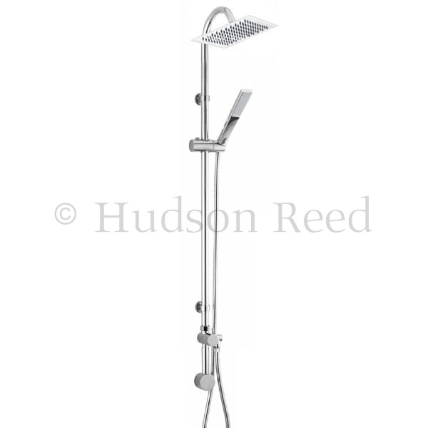 Hudson Reed Merit Riser Kit with Concealed Outlet Elbow - Chrome - A3112 Large Image