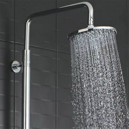 Ultra Telescopic Riser Kit with Round Shower Head - Chrome - A3113 Profile Large Image