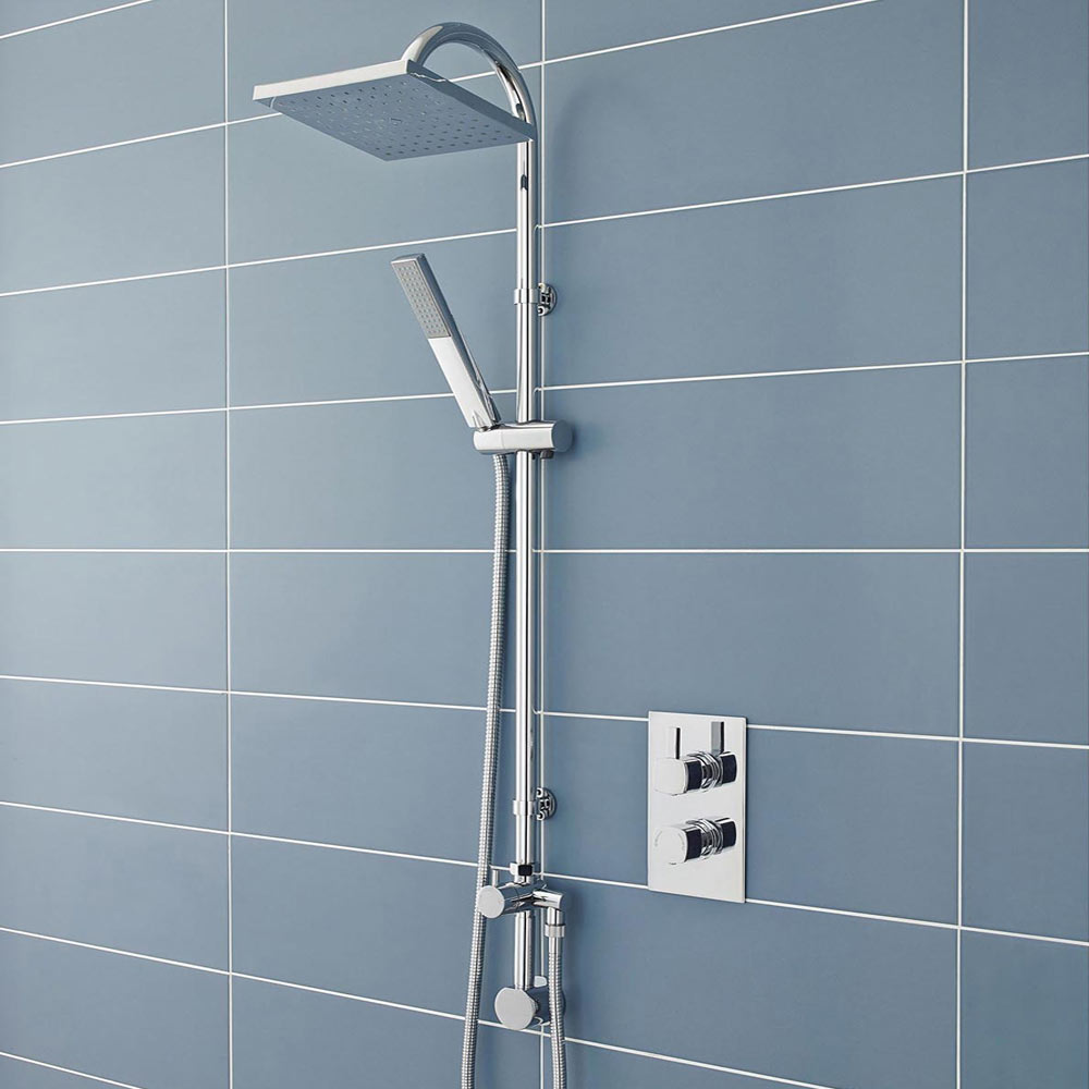 Ultra Worth Rigid Riser Shower Kit with Concealed Outlet Elbow + Diverter profile large image view 2