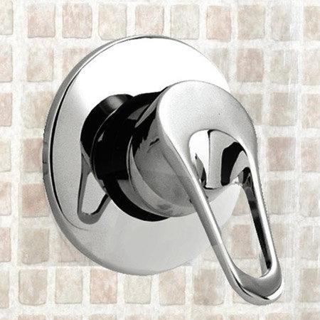 Ultra Ocean Concealed Single Lever Shower Valve + Luxury Slider Rail Kit profile large image view 2