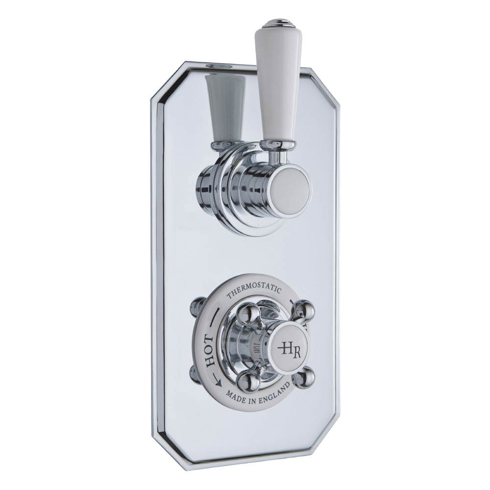 Hudson Reed Topaz Traditional Twin Concealed Valve with Luxury Rigid Riser Kit profile large image view 2