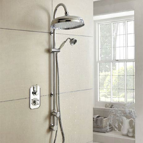 Hudson Reed Topaz Traditional Twin Concealed Valve with Luxury Rigid Riser Kit