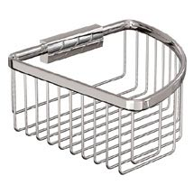 Britton Bathrooms - Large Deep Corner Wire Basket Medium Image