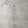 Hudson Reed Minimalist Thermostatic Bar Valve with Telescopic Shower Kit - Chrome profile small image view 1