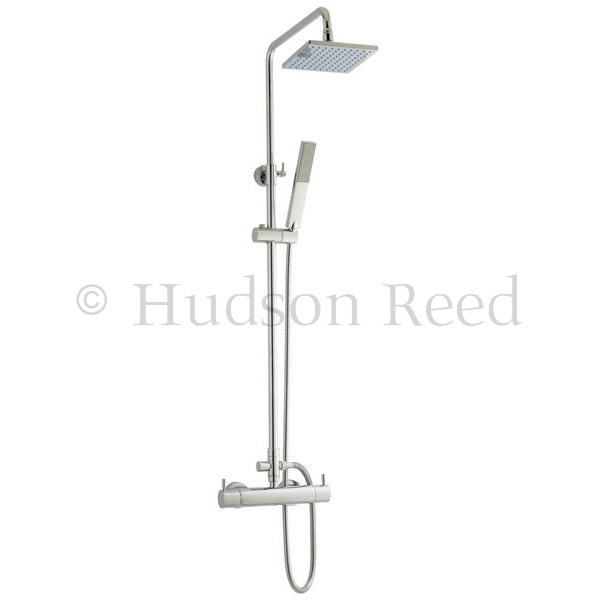 Hudson Reed Thermostatic Bar Valve with Pro II Telescopic Shower Kit - Chrome profile large image view 1
