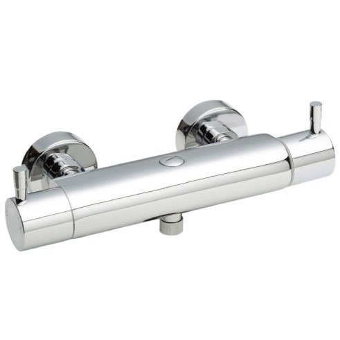 Hudson Reed Thermostatic Bar Valve (Top or Bottom Outlet) - Chrome - A3500 profile large image view 2