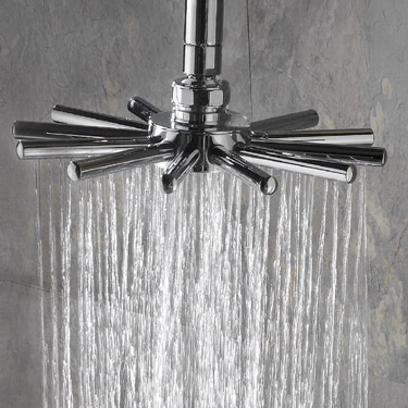 Hudson Reed Quadro Thermostatic Bar Valve with Infinity Shower Kit - Chrome profile large image view 2