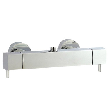 Hudson Reed Quadro Thermostatic Bar Valve with Infinity Shower Kit - Chrome profile large image view 3