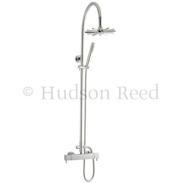 Hudson Reed Quadro Thermostatic Bar Valve with Infinity Shower Kit - Chrome profile large image view 1