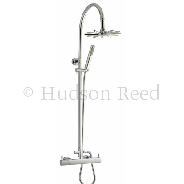 Hudson Reed Thermostatic Bar Valve with Infinity Shower Kit - Chrome Large Image