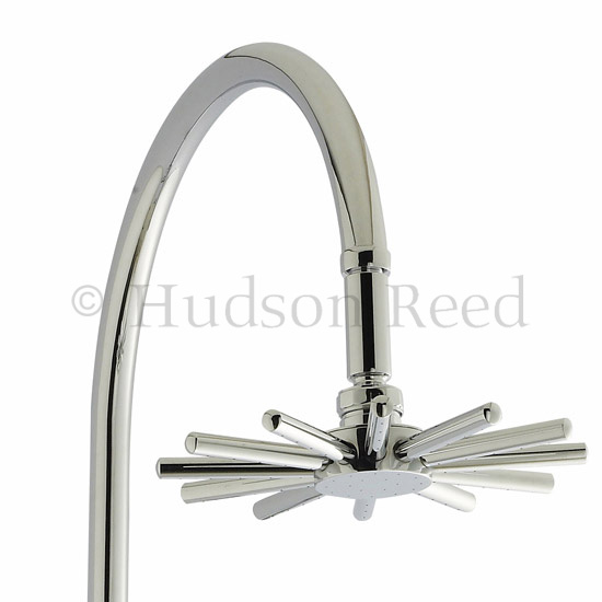 Hudson Reed Infinity Riser Kit with Diverter - Chrome - A363 Feature Large Image
