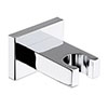 Hudson Reed Square Wall Mounted Parking Bracket - A3794 profile small image view 1