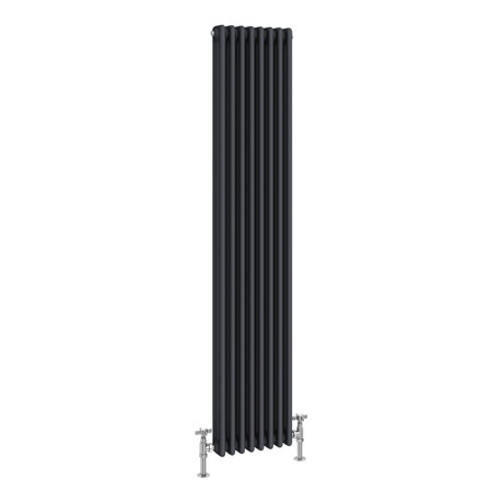 Keswick 1800 x 376mm Cast Iron Style Traditional 3 Column Anthracite Radiator
