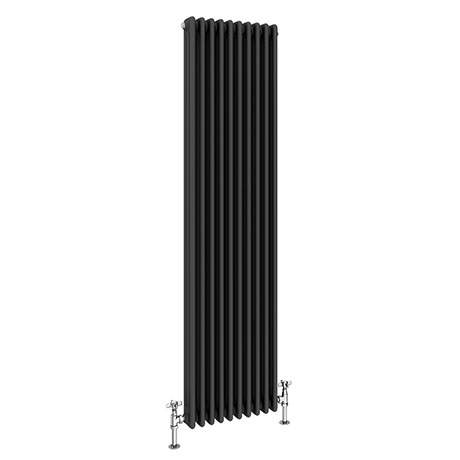 Keswick 1800 x 468mm Cast Iron Style Traditional 3 Column Anthracite Radiator