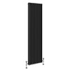 Keswick 1800 x 468mm Cast Iron Style Traditional 3 Column Anthracite Radiator profile small image view 1