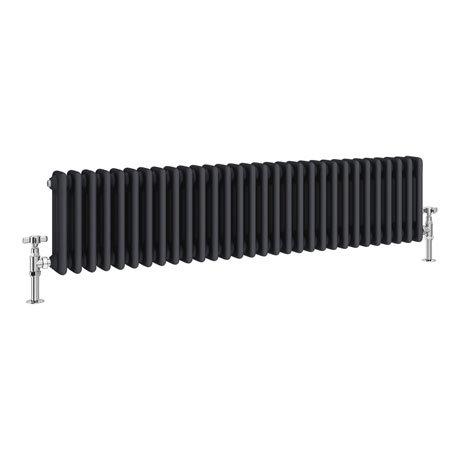 Keswick 300 x 1355mm Cast Iron Style Traditional 3 Column Anthracite Radiator
