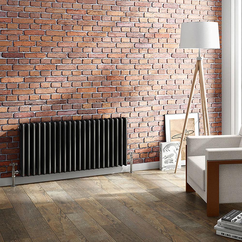 Keswick 450 x 1008mm Cast Iron Style Traditional 3 Column Anthracite Radiator