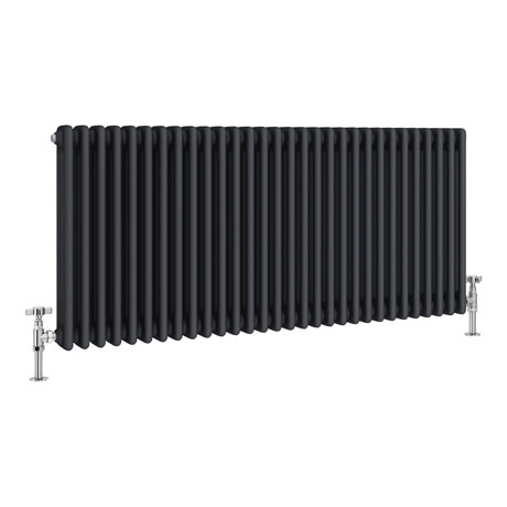 Keswick 600 x 1355mm Cast Iron Style Traditional 3 Column Anthracite Radiator