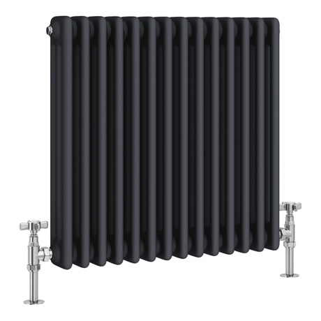 Keswick 600 x 643mm Cast Iron Style Traditional 3 Column Anthracite Radiator