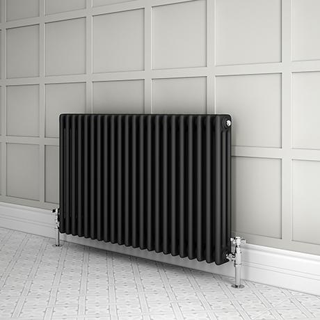 Keswick 600 x 999mm Cast Iron Style Traditional 3 Column Anthracite Radiator