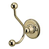 Burlington Gold Double Robe Hook - A4-GOLD profile small image view 1