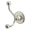 Burlington Nickel Double Robe Hook - A4-NKL profile small image view 1
