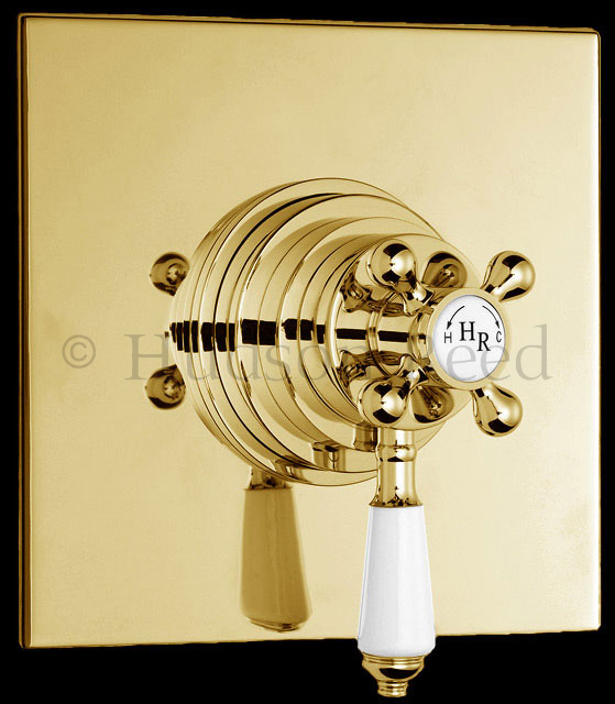 Concealed Shower Room Steam Room Thermostatic Valve: Hudson Reed Traditional Dual Concealed Thermostatic Shower