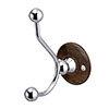 Burlington Double Robe Hook - Walnut - A4WAL profile small image view 1