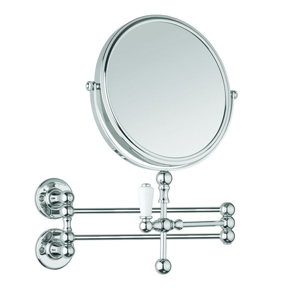 Burlington Traditional Cosmetic Wall Mirror - Chrome - A57CHR