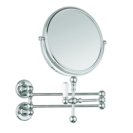 Burlington Traditional Cosmetic Wall Mirror - Chrome - A57-CHR