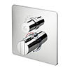 Ideal Standard Concept Easybox Slim Built-in Shower Mixer with Square Faceplate profile small image view 1