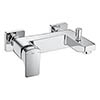 Roca L90 Wall Mounted Bath Shower Mixer - A5A0D01C00 profile small image view 1