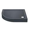 Aurora LH Slate Effect Stone Offset Quadrant Shower Tray + Riser Kit profile small image view 1