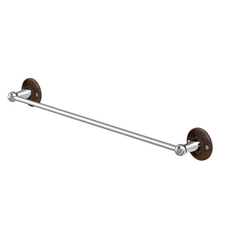 Burlington Single Towel Rail - Walnut - A7WAL