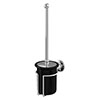 Burlington Black Toilet Brush Holder - A8-CHR-BLA profile small image view 1