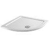 Aurora 800 x 800mm Anti-Slip Stone Quadrant Shower Tray profile small image view 1