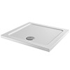 Aurora 800 x 800mm Anti-Slip Stone Square Shower Tray profile small image view 1