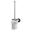 Burlington Toilet Brush Holder - Walnut - A8WAL profile small image view 1