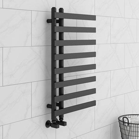 Arezzo Anthracite 800 x 500mm 8 Bars Designer Heated Towel Rail